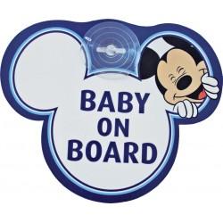 TABLICZKA Z PRZYSSAWKĄ - BABY ON BOARD - MICKEY